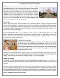 The History and Love Story of the Taj Mahal - Reading Comprehension Worksheet /
