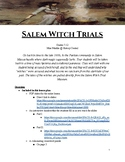 The History and Motives of the Salem Witch Trials