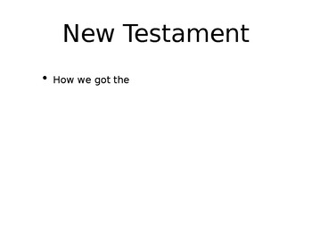The History and Reliability of the New Testament