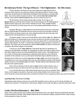 The History of American Literary Periods