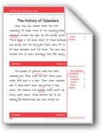 The History of Calendars (Gr. 3/Week 31)