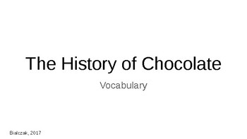 The History of Chocolate Powerpoint