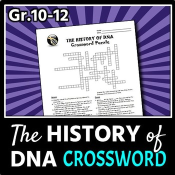 The History of DNA - Crossword {Editable}