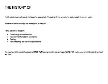 The History of.....Doodle Sheet (Bonus Points)