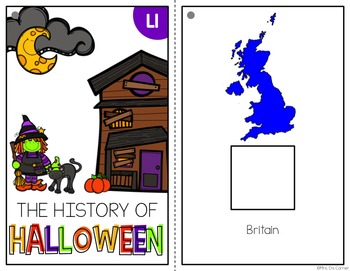 The History of Halloween Adapted Book ( Level 1 and Level 2 ) Social Studies
