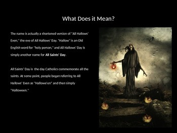 The History of Halloween Power Point