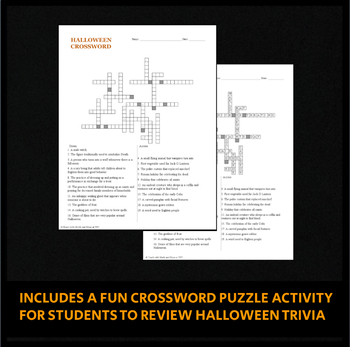 The History of Halloween - PowerPoint Presentation and Crossword Activity