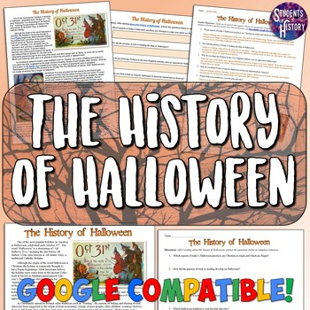 Halloween History Reading and Worksheet by Students of History   TpT