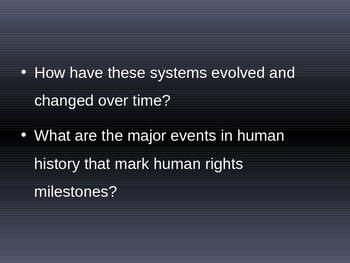 The History of Human Rights - Student Research Task PowerPoint