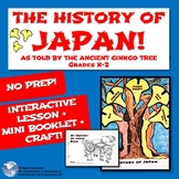 The History of Japan K - 2! Interactive Lesson with No Prep Craft & Mini Booklet