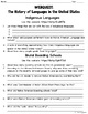 The History of Languages in the United States WebQuest