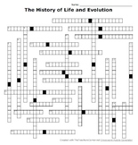 The History of Life and Evolution Crossword Puzzle
