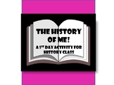 The History of Me! - A Get-to-Know-You Activity - ELL included!