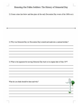 Memorial Day Close Reading and Activity Set