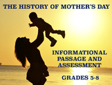 The History of Mother's Day: Informational Passage and Assessment for Grades 5-8