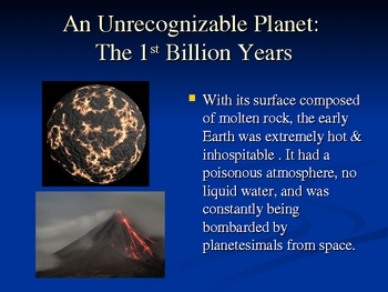 The History of Planet Earth