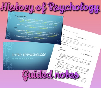 The History of Psychology Guided Notes