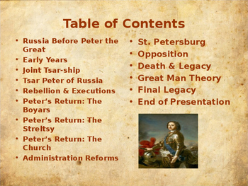 The History of Russia - Key Figures - Peter The Great