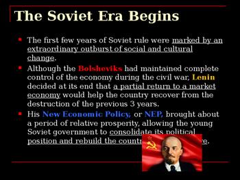 The History of Russia - The Soviet Era