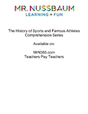The History of Sports and Famous Athletes Reading Comprehension