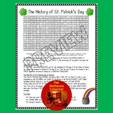 The History of St. Patrick's Day Word Search + Answer Key