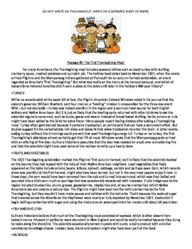 The History of Thanksgiving Packet