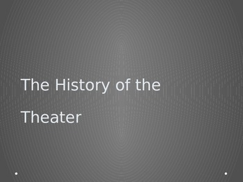 The History of Theater