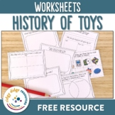 **FREE** The History of Toys worksheets