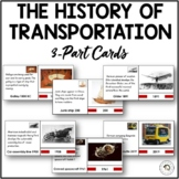 The History of Transportation Montessori Timeline 3-part Nomenclature Cards