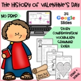 The History of Valentine's Day - Story, Comprehension and Worksheets + AUDIO