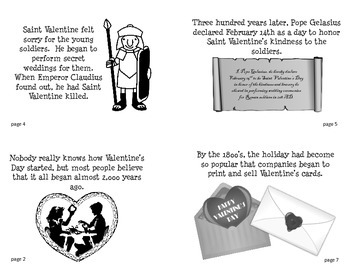 The History of Valentine's Day Mini-Book