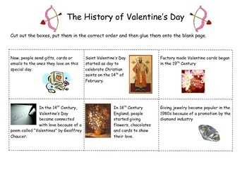 The History of Valentine's Day Sequencing Activity
