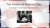 The History of Veterans Day: Powerpoint and Persuasive Writing Prompt