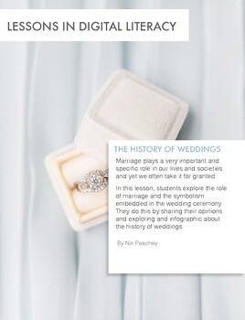 The History of Weddings - Lessons in digital literacy