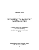 The History of a Country School-Master