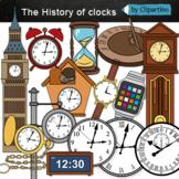 The History of clocks Clip art