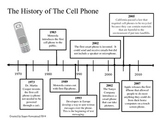 Timeline ~ The History of the Cell Phone --Time Line--  CC