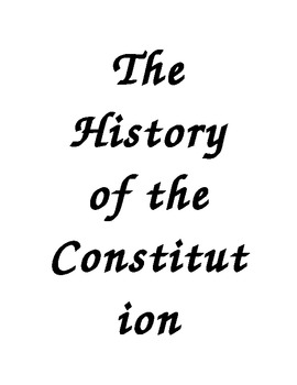 The History of the Constitution book to be illustrated by students