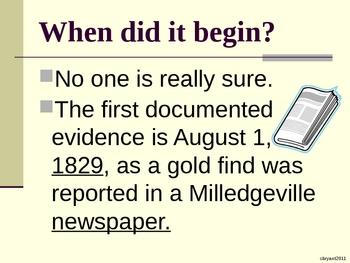 The History of the Dahlonega, GA Gold Rush