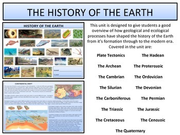 The History of the Earth - Geological Periods