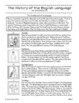 History of the English Language - Texts and Activities, Grades 5-7