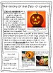 The History of the Jack-O'-Lantern {Reading Passage and Text Features Review}