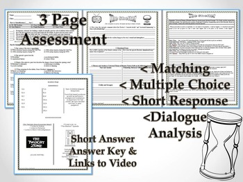 The Hitch-Hiker Twilight Zone Episode Unit Resource Common Core
