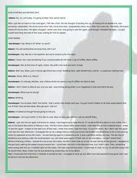 The Hitchhiker Play and Comprehension Questions