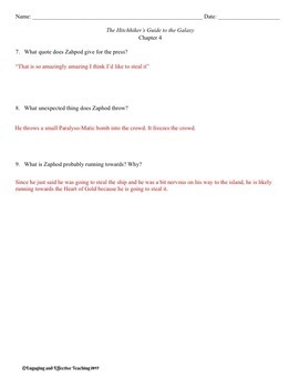 The Hitchhiker's Guide to the Galaxy Guide Questions