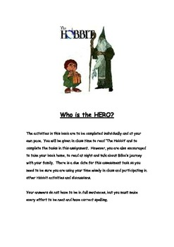 The Hobbit-Individual/group reading comprehension book/Who