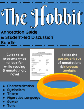 The Hobbit Annotation Guide and Student-led discussion bundle
