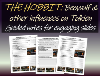 The Hobbit: Beowulf & other influences on Tolkien:Free Notes for PPT