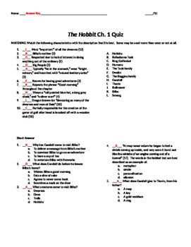 The Hobbit Ch. 1 Quiz
