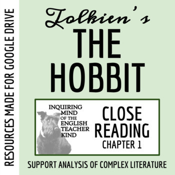 The Hobbit Close Reading Worksheet (Chapter 1)